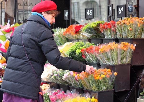 paris, le marais, flower shop, barrett, parisian, בלוג אופנה, מארה, פריז, חנות פרחים, כובע ברט