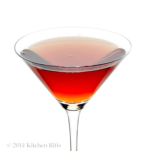 Dubonnet Cocktail in cocktail glass