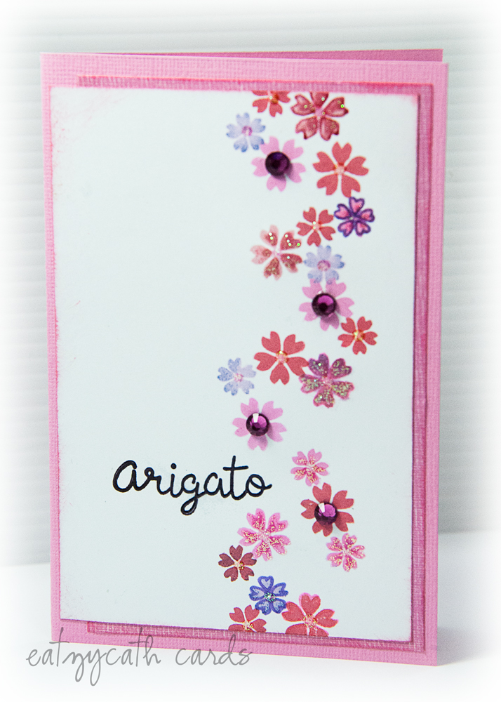 arigato in sakura pink
