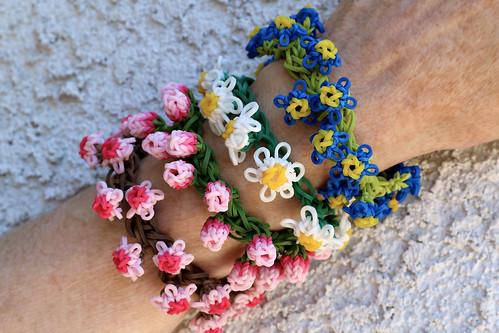 Flower-Bracelets