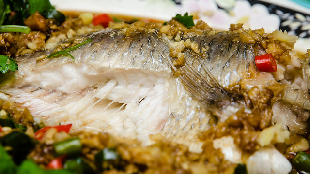 The juicy Tilapia fish at Restoran Lan Je Steamed Fish