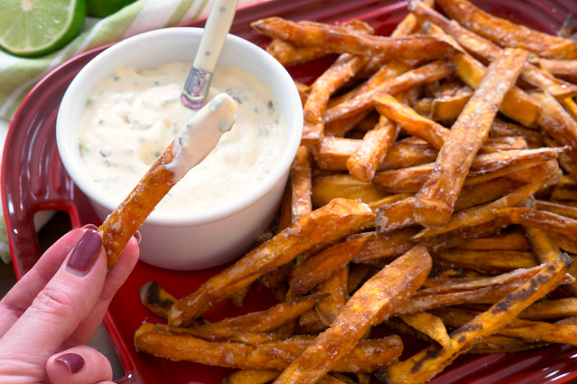 sweet potato fry in aioli