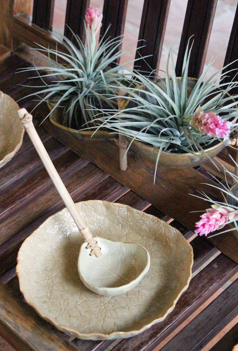 Ugu Bigyan Potter's Garden ceramic ladle and plate