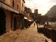 The streets of old Mostar
