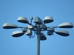 helicopter rotor(0.0), wind(0.0), ceiling fan(0.0), mechanical fan(0.0), propeller(0.0), lighting(0.0), light fixture(1.0), street light(1.0),