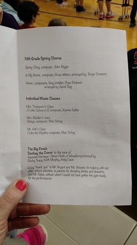 April 19 2016 Cal Fifth Grade Concert