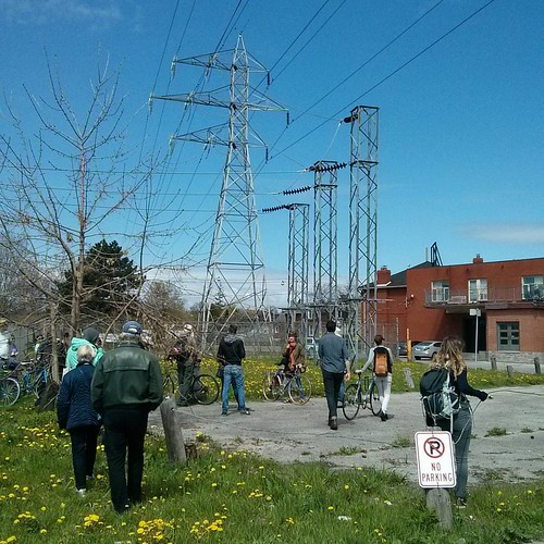 Hydro corridor east of Dufferin #toronto #janeswalk #lovetowalk #torontohydro #dufferinstreet