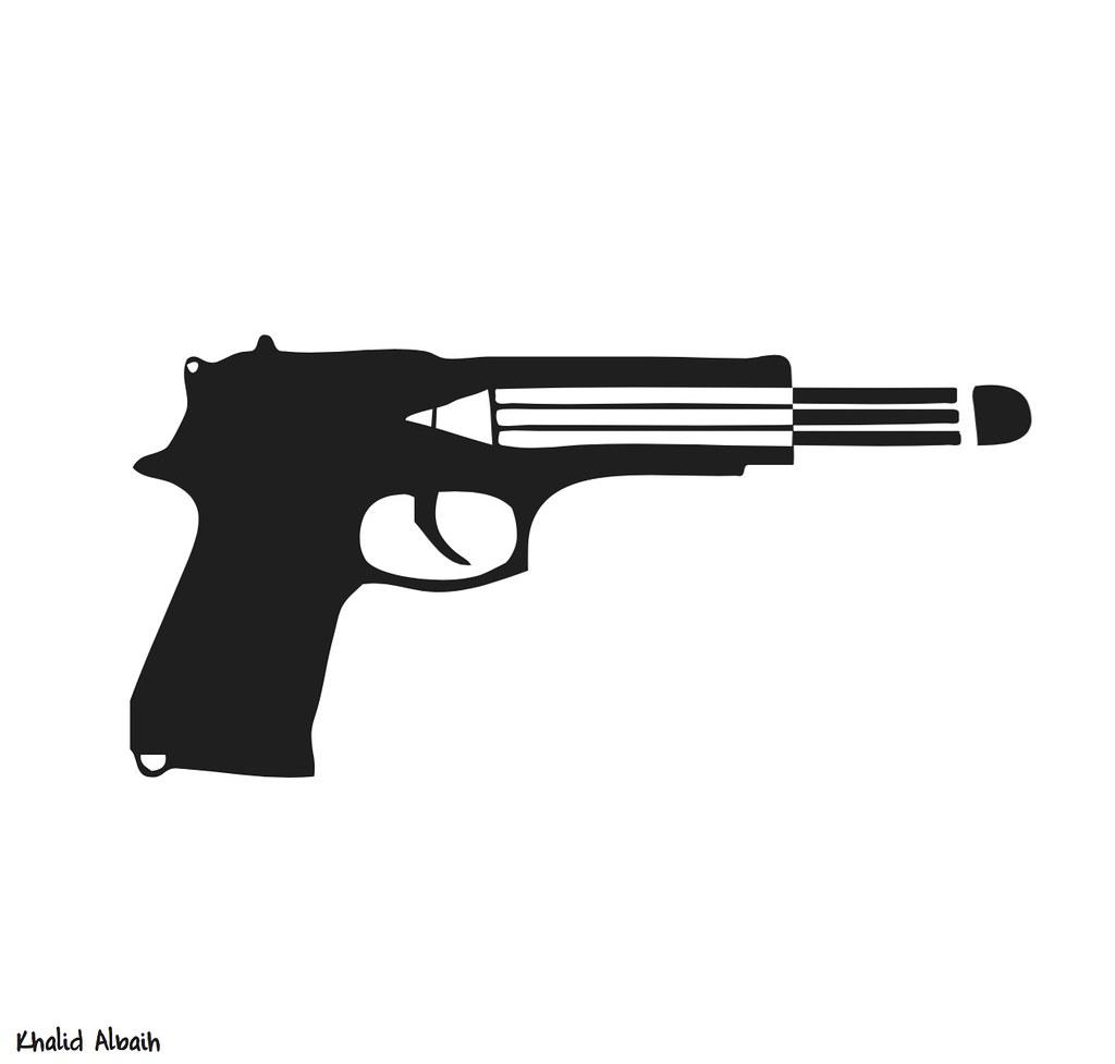 gun:pen:bullet