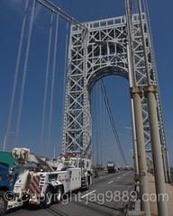 Port Authority Tow Truck on the George Washington Bridge, Fort Lee, New Jersey
