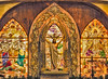 Crucifixion and Resurrection in Stain Glass