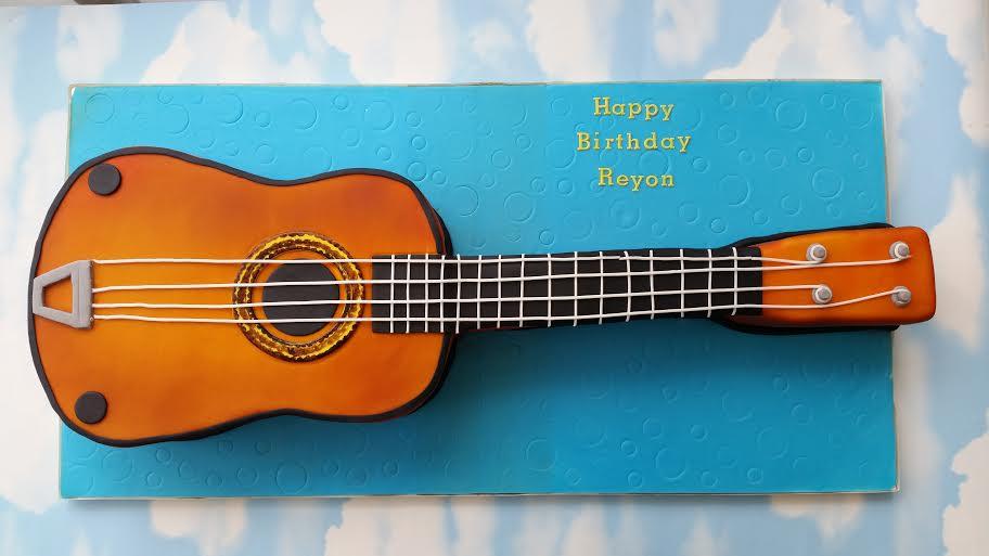 Guitar Cake by Izabela Zakoscielna of Izzy's Cake