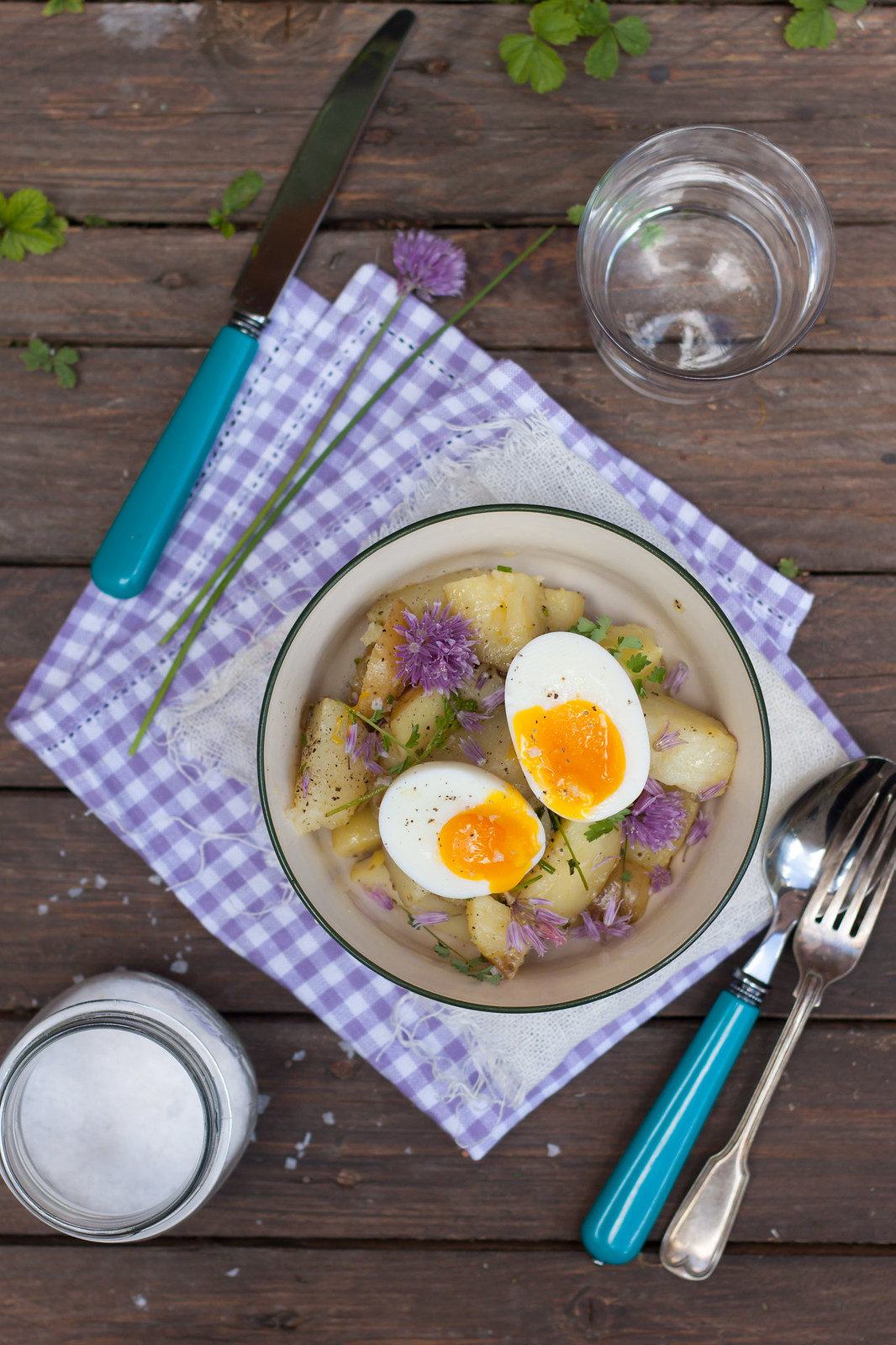 chive blossom soup