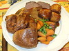 Sunday roast beef with Yorkshires