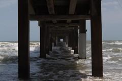 water, sea, ocean, pier, column,