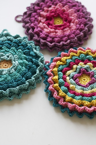 Blooming Potholders