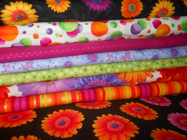 gerbera daisy quilt fabric