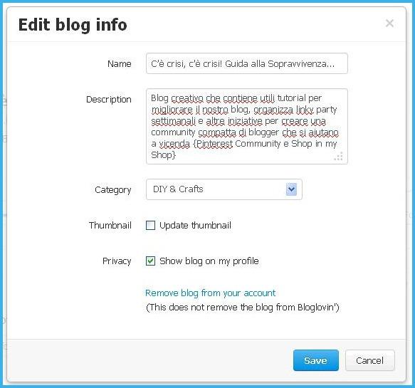edit blog info