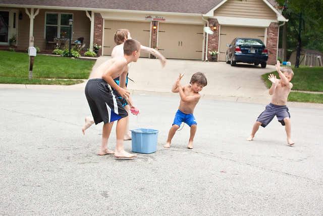 Kids Playing Outdoors via The Risky Kids