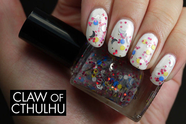 Fandom Cosmetics Usagi Tsukino Swatch (over OPI White Alpine)