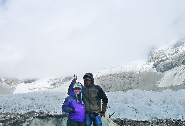 with my guide Madan at Everest Base Camp