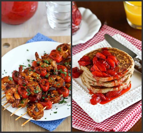 New Recipes: Shrimp Kebabs, Springs Rolls & Strawberry Sauce | cookincanuck.com #recipe