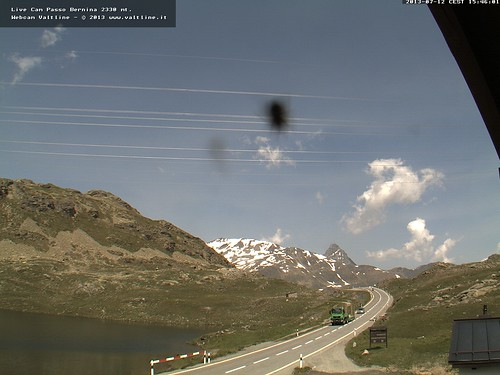 Berninapass Webcam mit Fliege