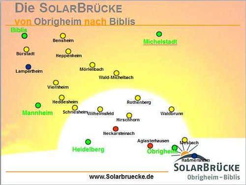 Solarbrücke Obrigheim Biblis Karte