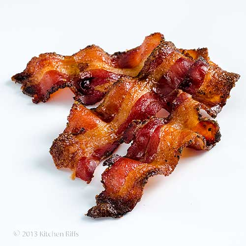 Candied Bacon on white