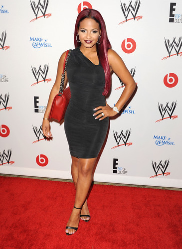 Sexy ass Milf Christina Milian @ a wwe party