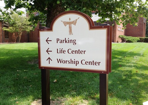 East Side Church Directory Sign by Redirections Sign & Design