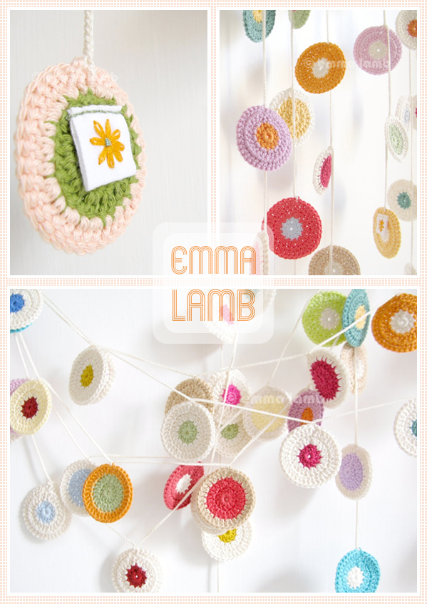 Polka Dot Penny Garlands by Emma Lamb