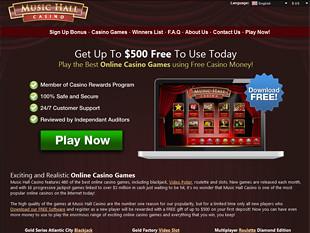 music hall casino no deposit bonus