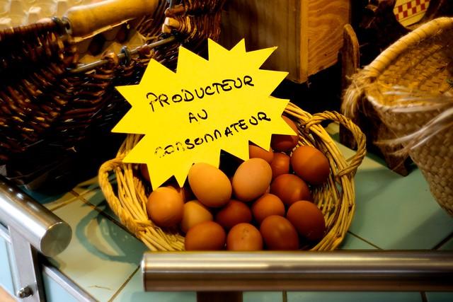 とくべつにおいしい卵なんだって。殻、硬っ!
