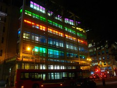 Building illuminated, Finsburry Square by Julie70