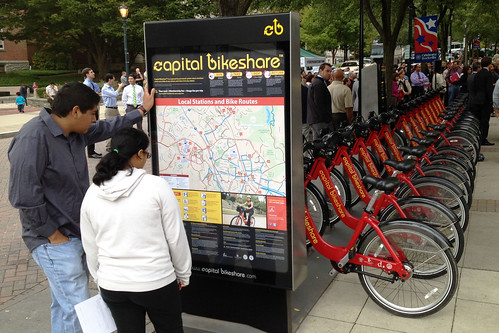 Admiring the New Bikeshare Station
