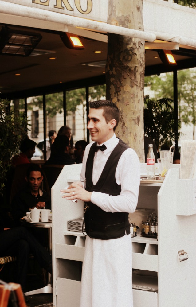 Waiter in Paris