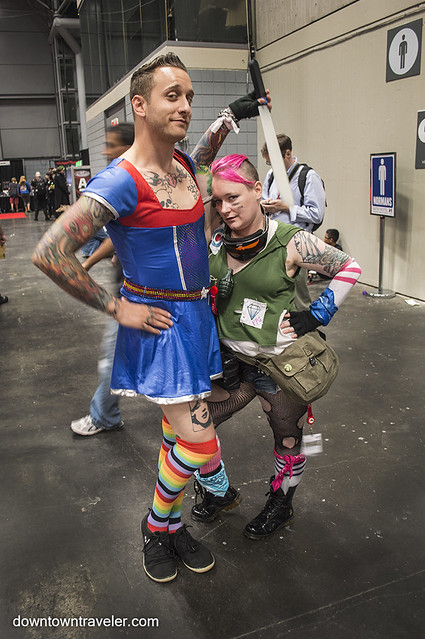 NY Comic Con Couples Costume Rainbow Brite Tank Girl