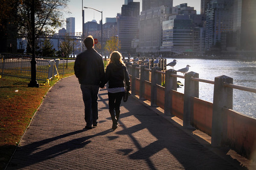 Walking in Roosevelt Island