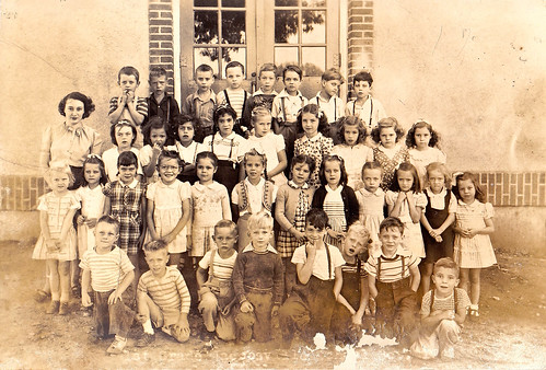 Jacobsville First Grade 1947 by Edna Barney