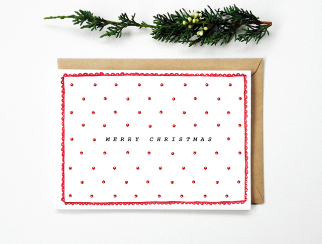 Christmas Card Polka Dots