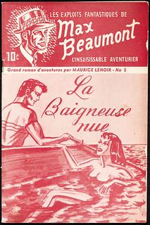 """""""La baigneuse nue."""" Les exploits fantastiques de Max Beaumont, l'insaisissable aventurier. No. 5 / « La baigneuse nue », Les exploits fantastiques de Max Beaumont, l'insaisissable aventurier, no 5"""