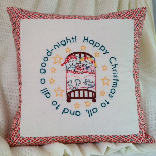 The night before christmas embroidered pillow tutorial