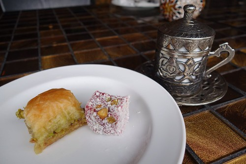 Baagh-lava, Turkish Delight & Arabic Coffee at Levant Middle Eastern Restaurant