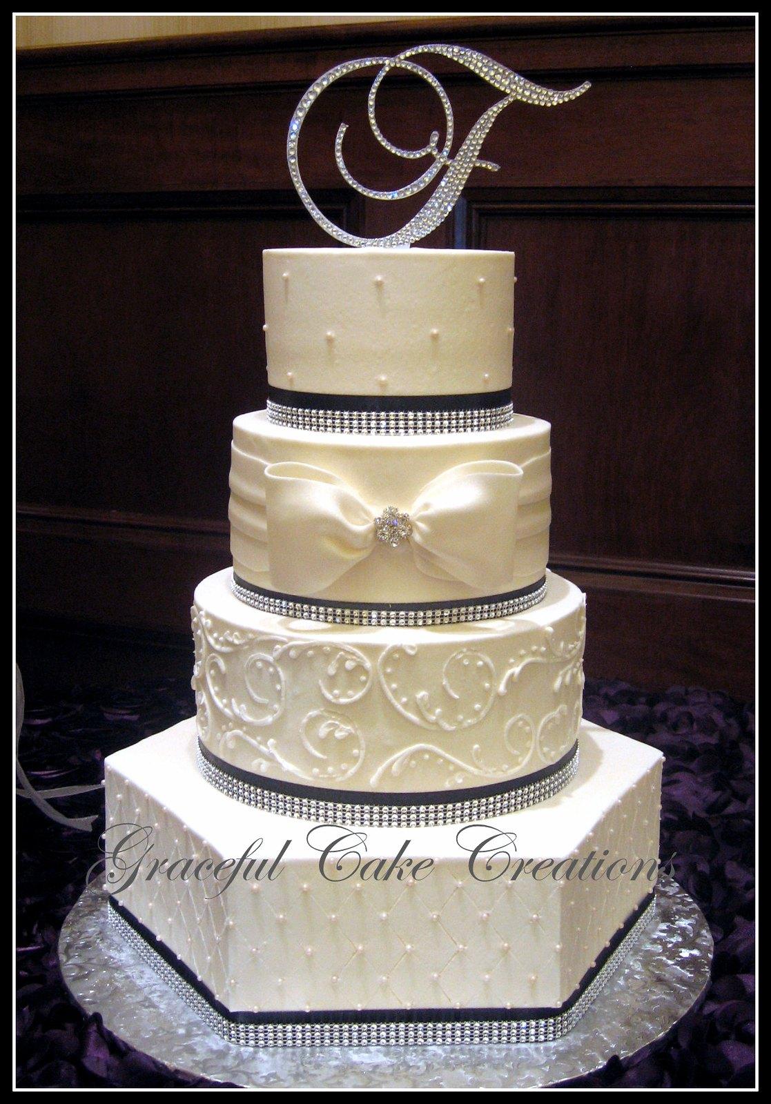 Elegant Ivory Butter Cream Wedding Cake