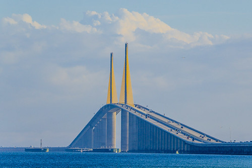 Marine Layer rolling through Sunshine Skyway Bridge - Timelapse 11/11