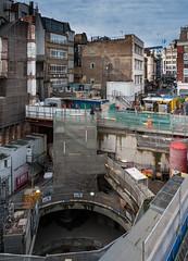 Crossrail big hole Bond Street London