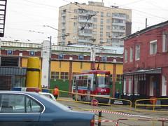 Moscow tram LT-5 test drive frist run _20030416_101