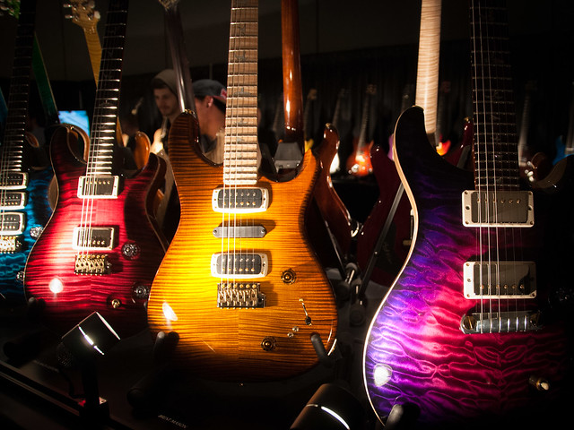 Photo:Paul Reed Smith exhibit at NAMM 2014 By ArtBrom