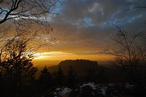 winter sunset sonnenuntergang winterlandschaft elbsandsteingebirge gohrisch sandsteiner