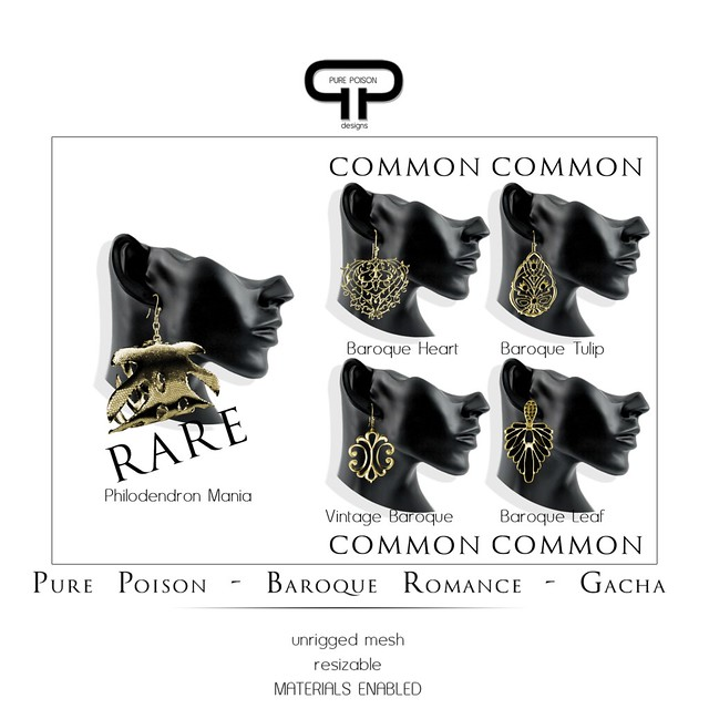 Pure Poison - Baroque Romance - Earrings - GACHA
